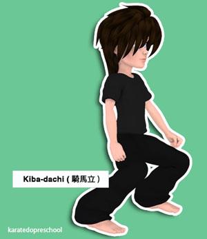 Stances ( dachi 立 )   Karatedo Preschool